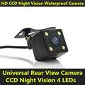 À prova d' água CCD Car Auto Back Up Backup Reversa 4 LEDs Night Vision Rear View Câmera Assistência de Estacionamento Universal