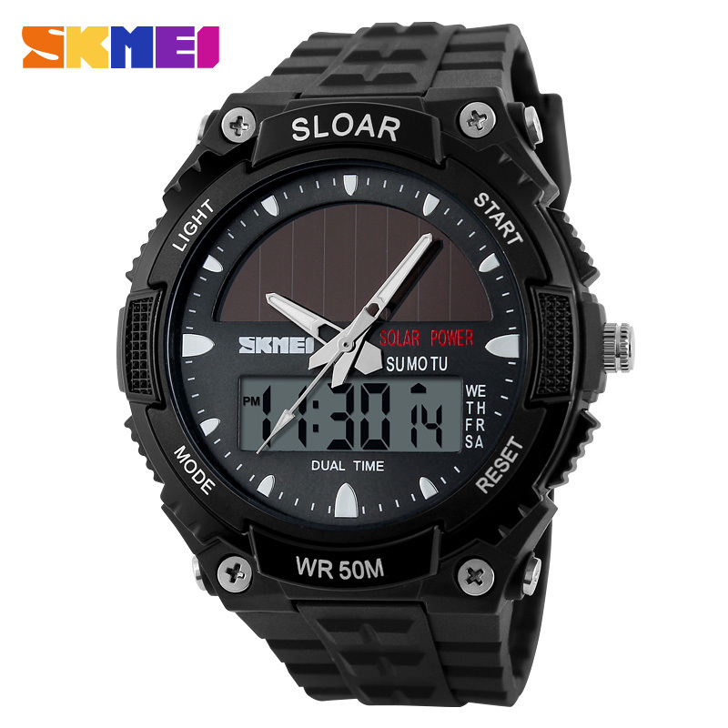 Amiable Skmei Brand Solar Energy Men Sports Watches Outdoor Military Led Watch Fashion Digital Quartz Multifunctional Wristwatches 1049 Digital Watches