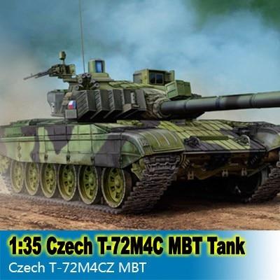 1:35 Kit de montage de réservoir à l'échelle Kit de construction de réservoir MBT tchèque T 72M4CZ modèle 05595 livraison gratuite-in Kits de construction from Jeux et loisirs    1