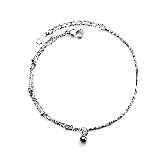Silver Bracelet Beads Ball...