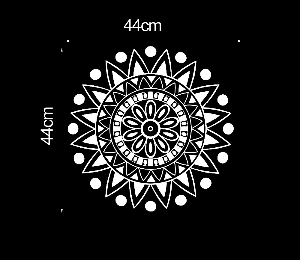 Mural mandala ornament indian geometric moroccan pattern yoga mural mandala ornament indian geometric moroccan pattern yoga namaste lotus flower om wall sticker vinyl wall decal home decor in wall stickers from home izmirmasajfo