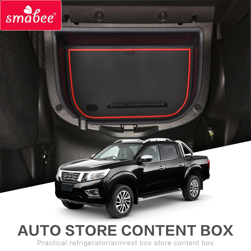 Smabee Car central armrest box For Nissan Navara NP300 D23 2015-2018 Interior Glove Box Tray Storage Box Auto Styling 2014 18 car wind deflector awnings shelters for navara np300 d23 black window deflector guard fit for nissan navara np300
