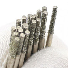 20Pcs Diameter 2mm Electroplated Diamond Coated Hole Saw Drill Solid Bits for Jewelry Gems Glass Tile Ceramic Marble Granite