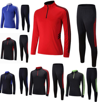 Football Training Suit Sports Set With Striped Pants