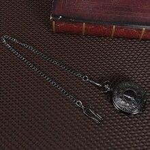 Карманные часы ВИНТАЖНЫЕ КВАРЦЕВЫЕ двойной дисплей унисекс Прочные часы стимпанк классические Fabala римские цифры