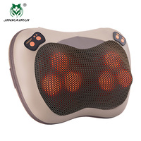 JinKaiRui Infrared Heating Electric Kneading Shiatsu Vibrator Neck Shoulder Back Body Massager Pillow Car/Chair/Home Massagem