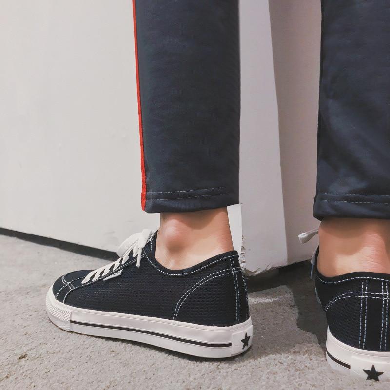 Novos De Vulcanizados Skate Calçados Preto Verão Casuais Homens branco Sapatos wUPO6w