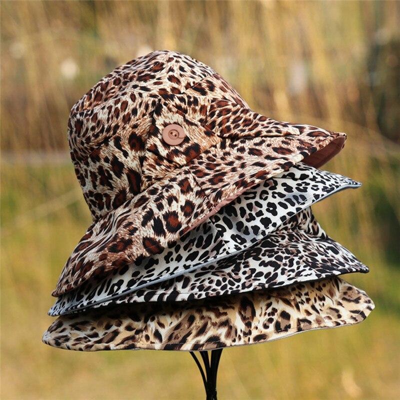Eimer-hüte Imixlot Persönlichkeit Sommer Erwachsene Männer Frauen Kappe Im Freien Sonnenhut Reise Casual Leopard Gedruckt Eimer Hut Im Freien 2019 Kopfbedeckungen Für Damen