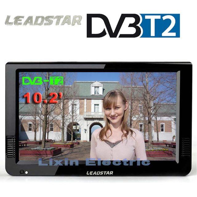 LEADSTAR HD Tragbare TV 10 Zoll Digital Und Analog Led Fernseher Unterstützung TF Karte USB Audio Auto Fernsehen DVB-T DVB-T2 AC3