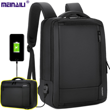 Men Backpacks Business Bags Multilayers big capacity USB safe Travel business commuting Nylon strong School laptop bag pack