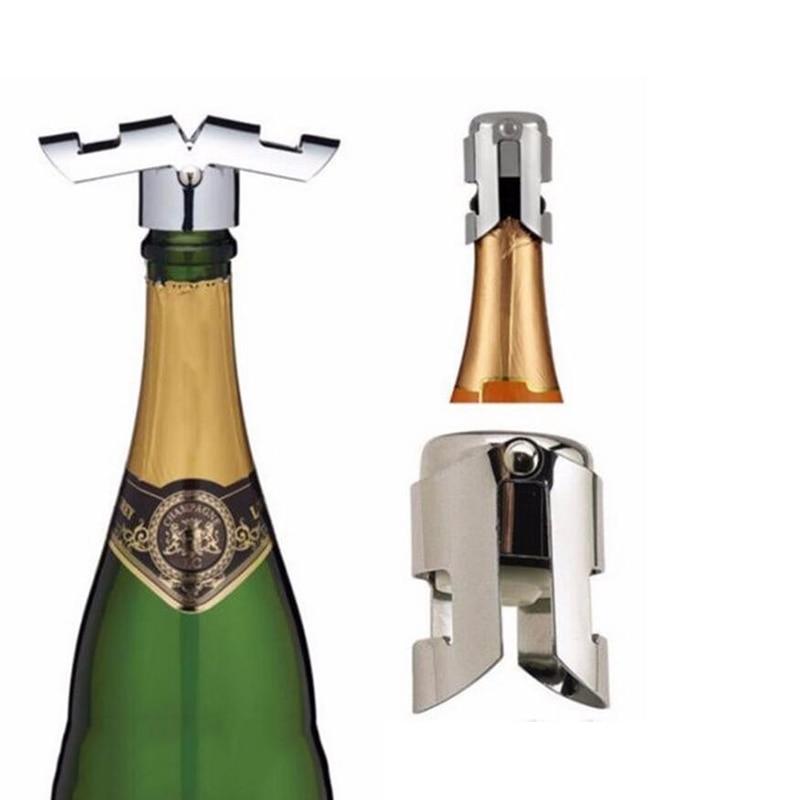 1 St Draagbare Rvs Wijnstop Champagne Vacuumsealer Wijnfles Cap Bar Gereedschap Ruime Levering En Snelle Levering
