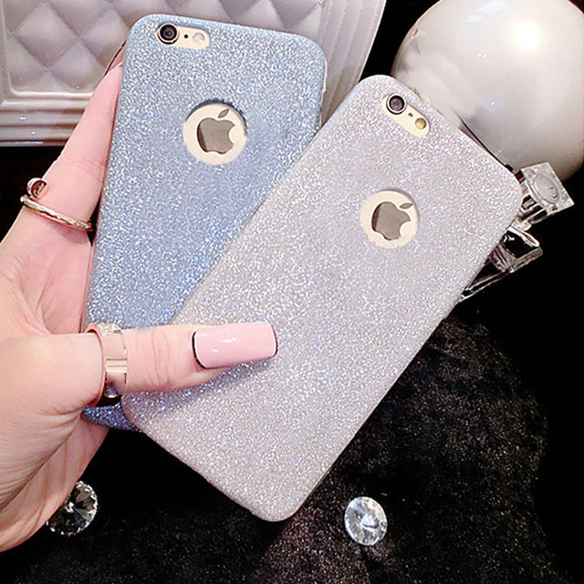 Hot Glitter Powder Ultra Thin Soft TPU Phone Back Cover Phone Case For iPhone 7 For iPhone 5 5S SE 6 6S 7 Plus YC1289