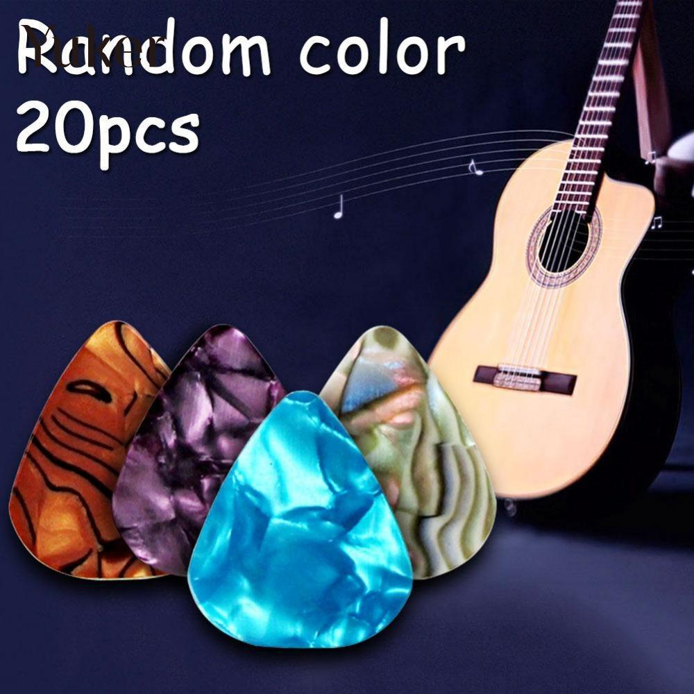 Yuker 20pcs Electric Guitar Picks Plectrum Various Pick Musical Bass Ukulele Celluloid Parts
