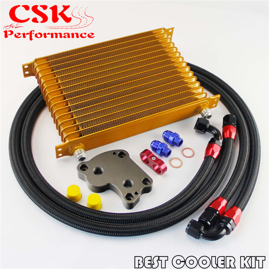 купить AN10 15 Row Trust Oil Cooler Kit Fits For BMW Mini Cooper S R53 Supercharger Gold по цене 4748.27 рублей