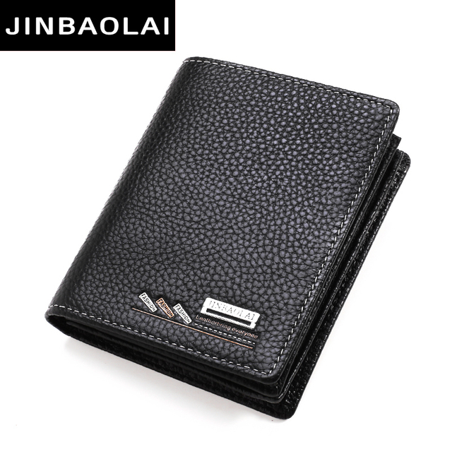 9bf5d7974255 Cow Leather Men Short Wallet Casual Genuine Leather Male Wallet Purse Card  Holders Wallets For Men Designer