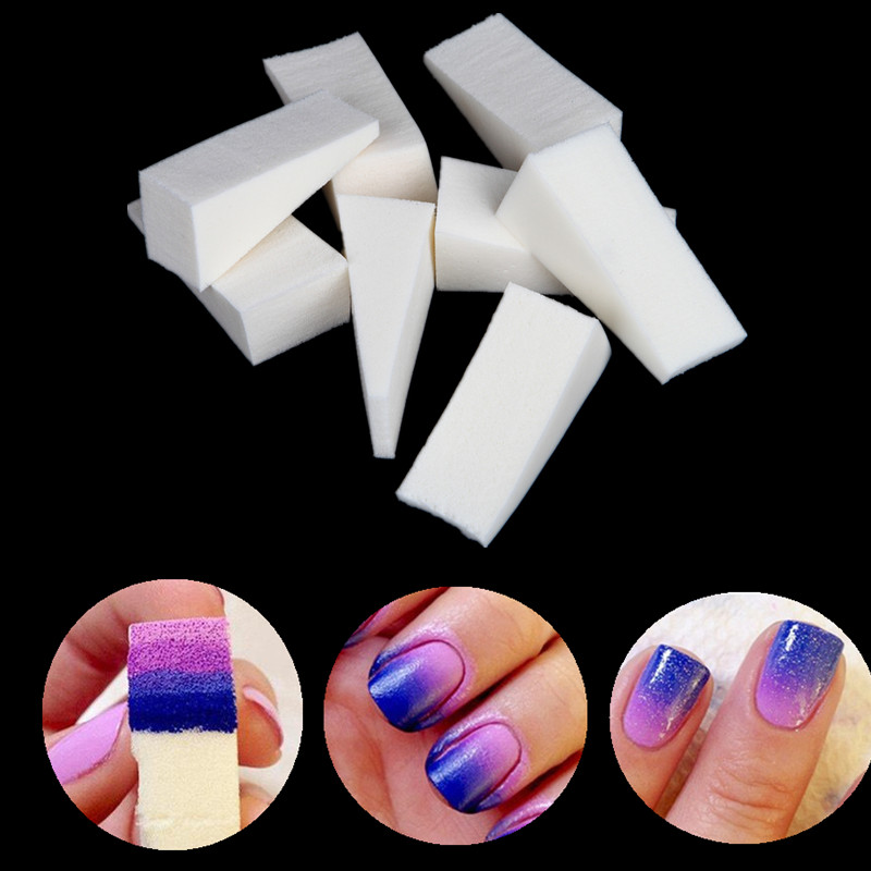8pcs New Woman Salon Nail Sponges Stamp Stamping Polish Transfer Tool DIY for UV Acrylic Colors Gel Manicure Accessory