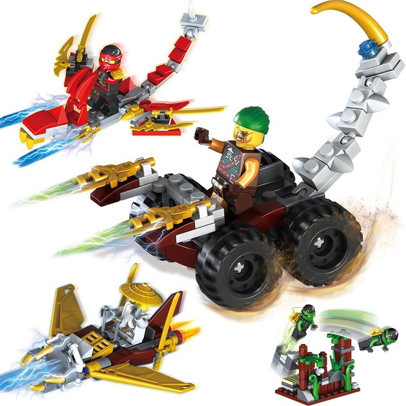 Ninjagoes Dragon Building Block Kai Jay Cole Zane Lloyd Wu Nya Garmadon Ninja Toy Compatible With Legoingly Ninjagoe 1 set in 4 [yamala] 15pcs lot compatible legoinglys ninjagoingly cole kai jay lloyd nya skylor zane pythor chen building blocks ninja toys