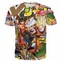 Новые Приходят Мужчины Женщины Аниме Папарацци футболка Dragon Ball Z гоку/Yu-Gi-Oh Manster/Super Mario/Наруто футболки Hipster 3D т рубашка