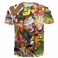 New Arrive Men Women Anime Paparazzi t-shirt Dragon Ball Z Goku/Yu Gi Oh Manster/Super Mario/Naruto t shirts Hipster 3D t shirt
