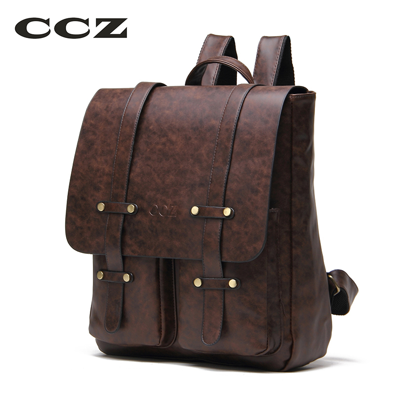 CCZ Brand Women Fashion Backpack PU Leather Backpacks Girls School Bag Waterproof Shoulders Bag Ipad Bags For Travel BK8006 just star brand design elf hardware casual pu women leather ladies girls backpack school travel shoulders bags