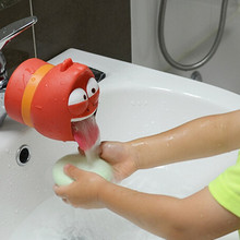 Cute cartoon Bathroom Faucet Spouts hello kitty Baby Faucet Extender Baby Kids Hand Washing Sink Gift Silicone Faucet Extender(China (Mainland))