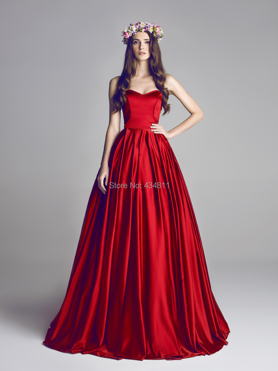 Gorgeous Red Taffeta Sweetheart Designer Crush Hamda Al Fahim Couture Dresses Custom Made Party Grown Prom In From Weddings Events On