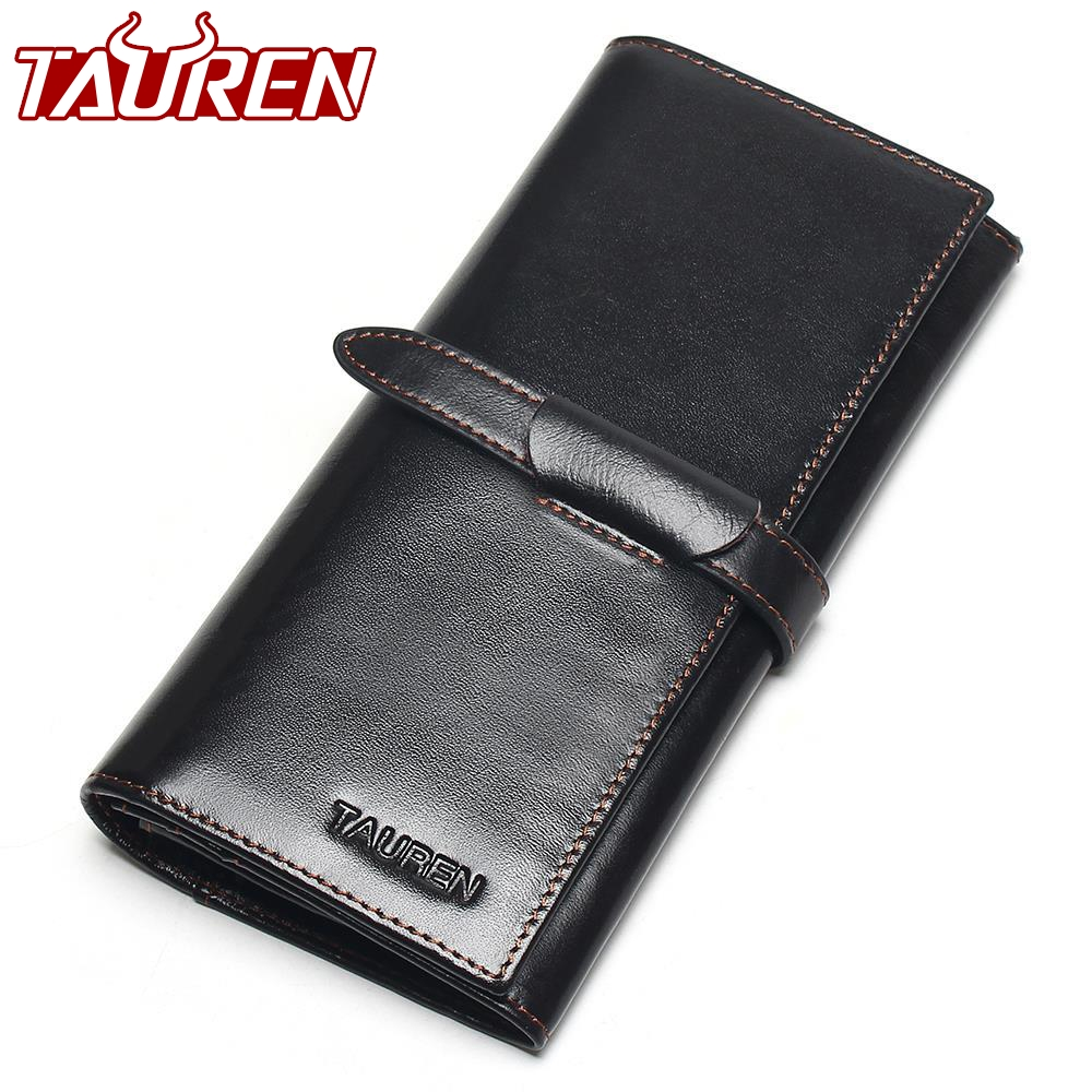 100% Genuine Leather Cowhide High Quality Vintage Solid Color Men Long Wallet Coin Purse Vintage Designer Male Carteira Wallets new luxury brand 100% top genuine cowhide leather high quality men long wallet coin purse vintage designer male carteira wallets