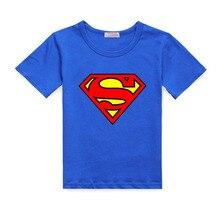 Супермен малышей коротким футболки новорожденных мальчиков хлопка печати девочек топы детская