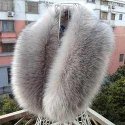 2019 Новая мода искусственный Лисий меховой воротник шарф шаль воротник для женщин зимние теплые обёрточная бумага палантин шарфы для