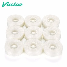 Vaclav Dental Floss Pick Dental Flosser Built-In Spool Flat Wire Dental Floss Replacement Core 9Pcs/Pack Mint Flavor 50M/ Spool