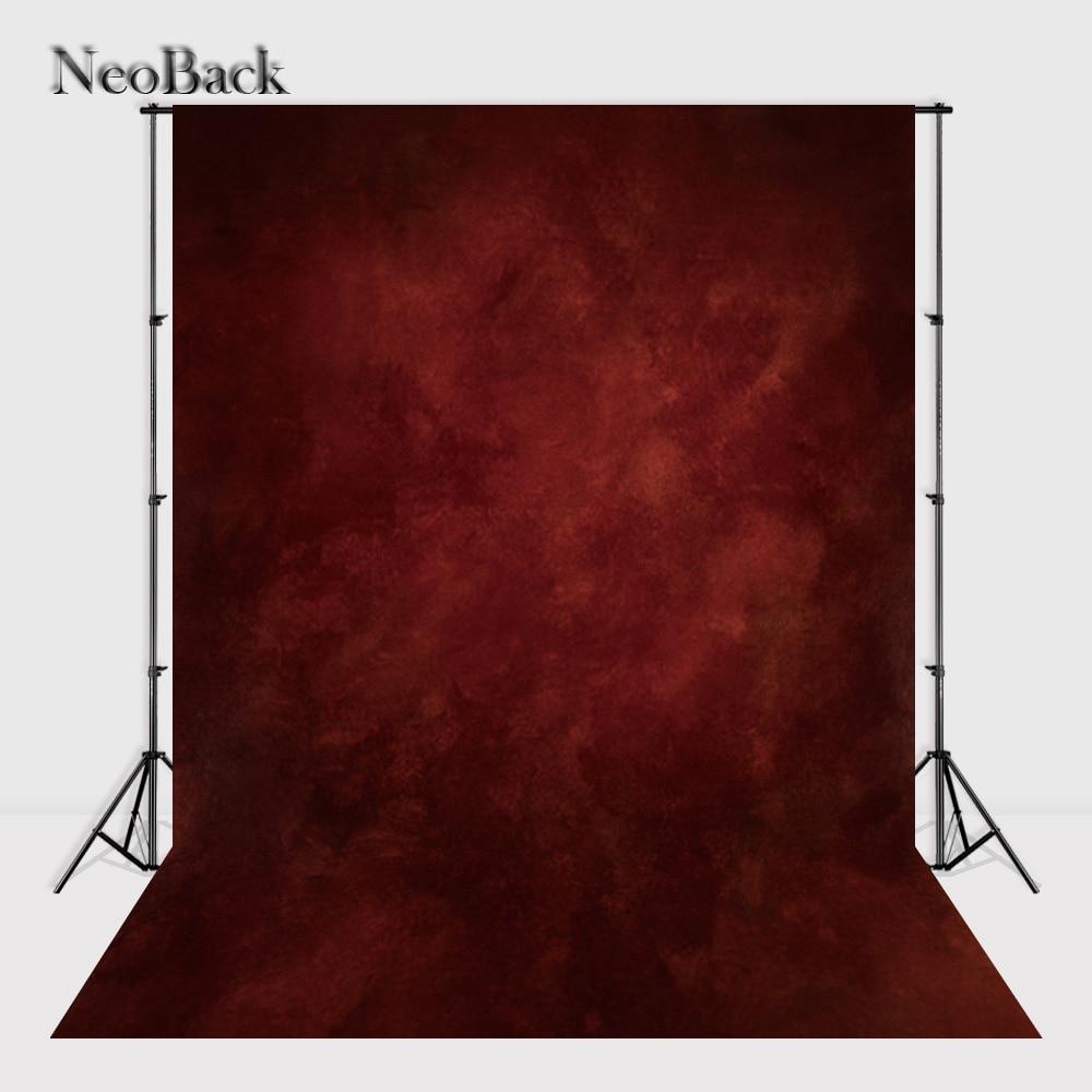 NeoBack 5X7FT Thin Vinyl Cloth Photography Backdrop Red Backgrounds Studio Portrait Photo Backdrop Wedding Backdrop P1386 5 x 7 ft pink love hearts print photo backdrop for wedding party portrait photography studio background s 1305