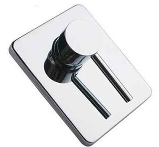 Bateria do łazienki w ścianie wanna bateria natryskowa zawór mosiądz chromowany ukryty prysznic kran okrągły jednofunkcyjny uruchamiany krany