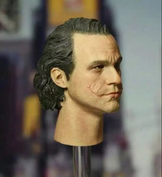 Custom 1/6 Scale Head Sculpt For Health Ledger Joker Without Makeup CGLT-09S in stockCustom 1/6 Scale Head Sculpt For Health Ledger Joker Without Makeup CGLT-09S in stock