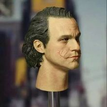 Custom 1/6 Scale Head Sculpt For Health Ledger Joker Without Makeup CGLT-09S