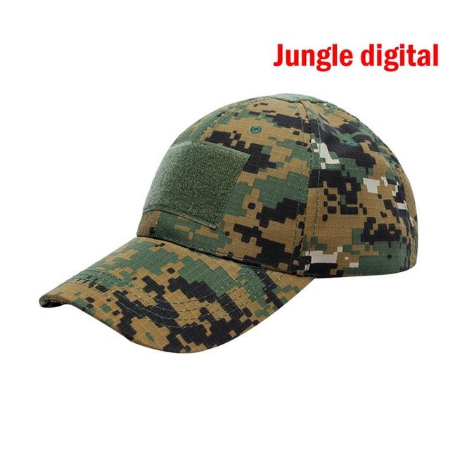 Gorra de béisbol para hombre hueso Masculino nuevo táctica camuflaje Snapback