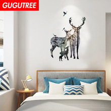 Decorate deer cartoon animal art wall sticker decoration Decals mural painting Removable Decor Wallpaper LF-1835