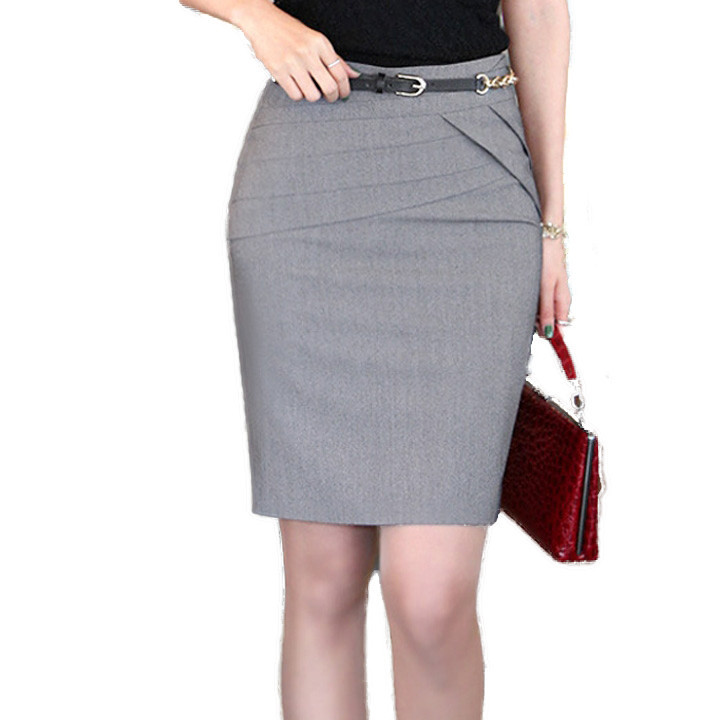 2015 summer new formal high waist knee length slim pencil