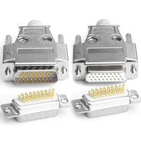 Tipo caixa de metal 3 DB26 masculino feminino fio de cobre puro linha 26 bloco terminal pin plug...|Conectores| |  -