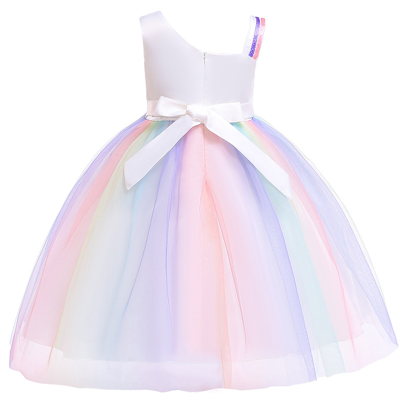 c19b780cdb Kids Unicorn Tutu Dress Pastel Rainbow Princess Dresses Girls Party Gown  Children Cosplay Costume Vestido De Festa Infantil - aliexpress.com -  imall.com
