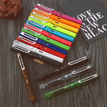 Stationry Promotion Jinhao 599A Kawaii Candy Colors Plastic Fountain Pen Lamy Style 0.5mm Ink Pens Office Supplies Free Shipping цена 2017