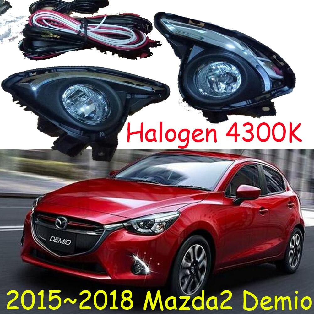 1 Set fog light For Mazda 2 Mazda2 Demio 2015 2016 2017 2018 halogen Lights Daylight Fog light