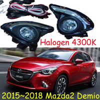 1 Set fog light For Mazda 2 Mazda2 Demio 2015 2016 2017 2018 halogen Lights Daylight Fog light