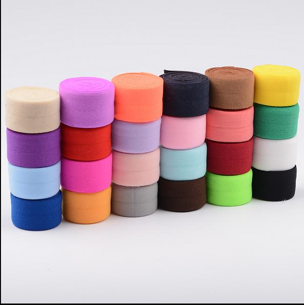 2Pcs Color Edge Wrapping Strips Elastic Cloth Folded