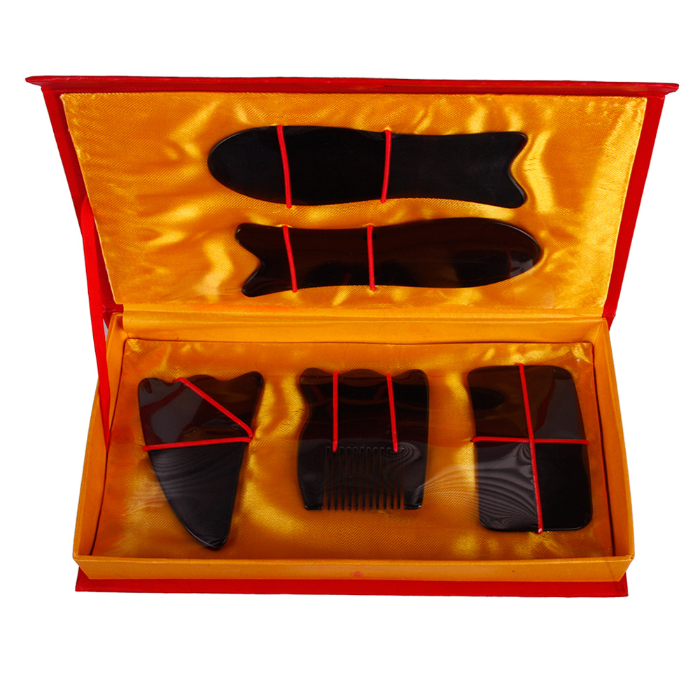 5Pcs/Set Chinese Traditional Acupuncture Massage Tool Guasha Beauty Kit #24525 hot very good quality wholesale traditional massage tool guasha board 100