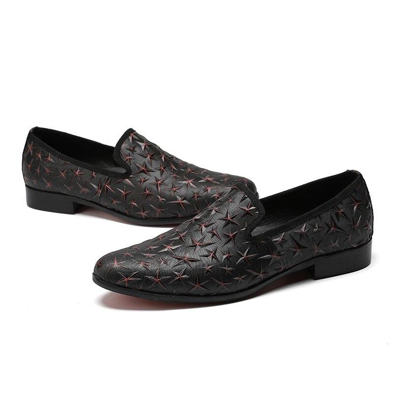 Pointed leather punk fashion men's leather shoes breathe freely leisure men's star men's shoes business shoes men dress shoes mulinsen breathe shoes men