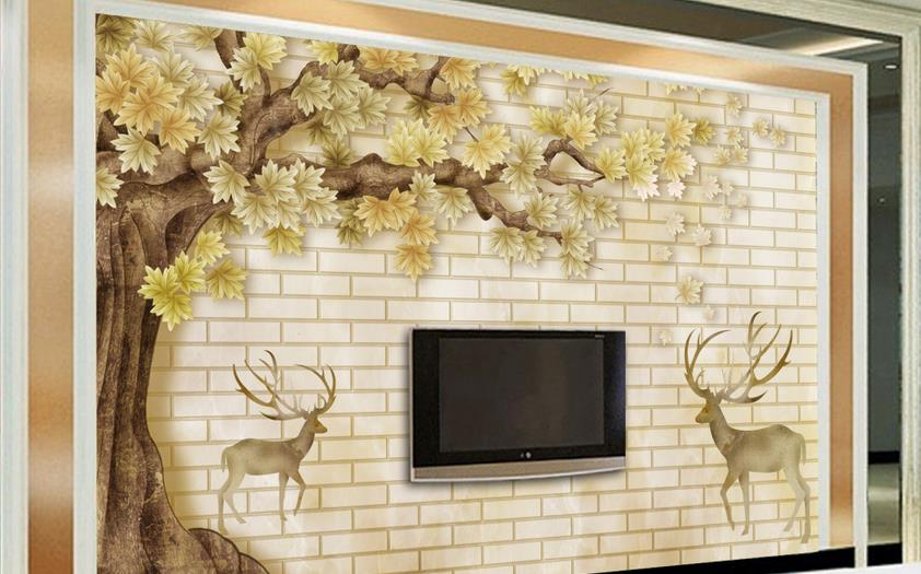 3D Photo Wallpaper Custom HD Tree animal Wall Mural Wall Paper Living Room Sofa TV Background Non-woven Fabric Wallpaper Bedroom latest high quality custom 3d mural dream of the big tree under the moon living room sofa tv wall bedroom wall paper