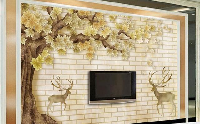 3D Photo Wallpaper Custom HD Tree animal Wall Mural Wall Paper ...