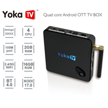 YOKATV S905X KB1 Amlogic CAJA de la TV Android 6.0 Tv Box 2 GB 16 GB 2.4G/5 GHz Daul WiFi Bluetooth 4.0 UHD 4 K media player Set Top box