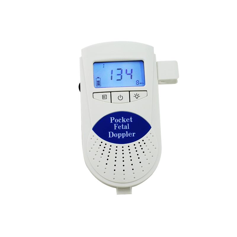 Fetal Doppler Handheld Doppler 3 MHz with LCD Display Blue 1 Piece ABS Home Health Care Fetal Doppler doppler 74667 g