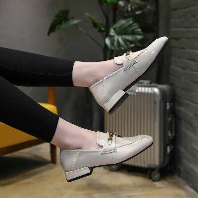 Rétro Britannique Tiou Petit En 2018 Version Simples Cuir Sauvage Nouvelle Chaussures Coréenne Beige Vent Printemps Femelle Femme rIgfOqI